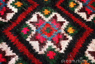 Colorful woven carpet
