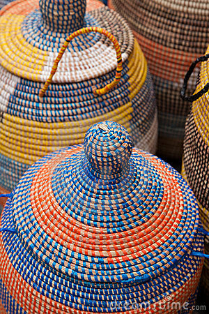 Colorful Woven Majorca Baskets