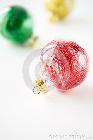 Colorful xmas baubles