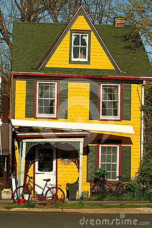 Colorful yellow house