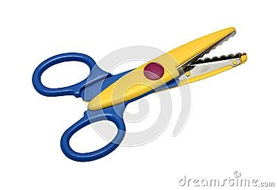 Colorful zigzag scissors