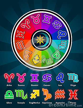 Colorful Zodiac Symbols