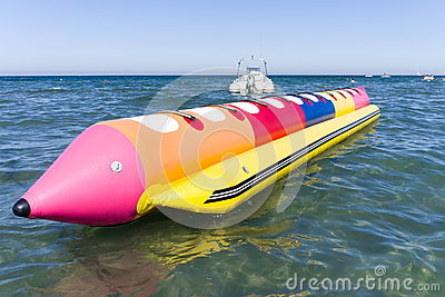 Colorfull banana boat