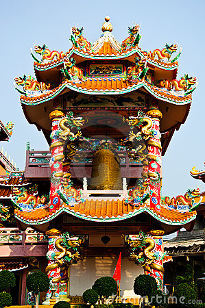 Free Colorfull Chinese Belfry Stock Images - 21333614