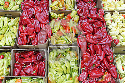 Colorfull peppers