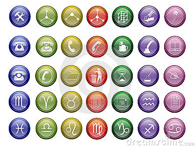 Colorfull vector icons