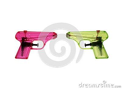 Colorfull waterguns