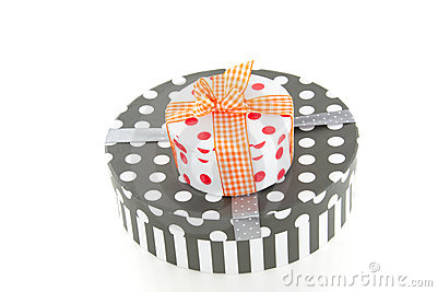 Colorfully decorated giftboxes
