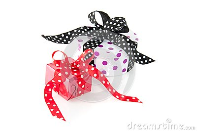 Colorfully dotted gifts