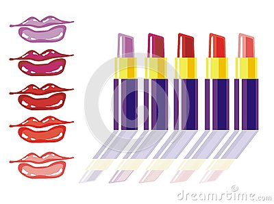 Colori differenti del rossetto