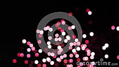 Coloridos fuegos artificiales rotos Feliz Año Nuevo metrajes