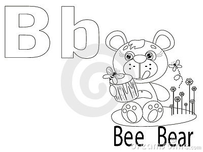 Coloring Alphabet for Kids,B
