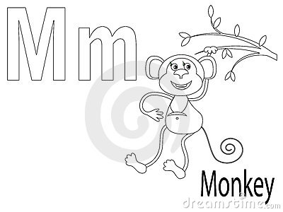 Coloring Alphabet for Kids,M