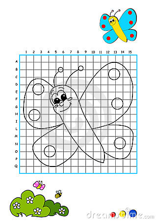 Coloring book 1 - butterfly