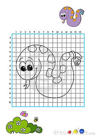 Coloring book 10 - snake