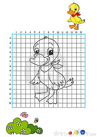 Coloring book 7 - duckling