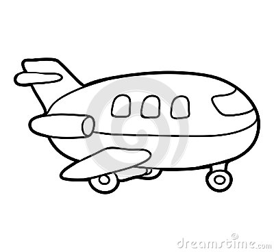 Free Coloring Book, Airplane Stock Photo - 113260750