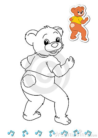 Coloring book animal dancers 19 - bear