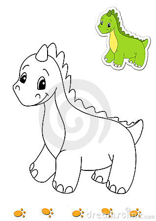 Coloring book of animals 1 - dinosaur