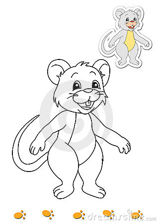 Coloring book of animals 11 - mouse