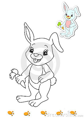Coloring book of animals 13 - rabbit