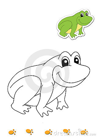 Coloring book of animals 14 - frog