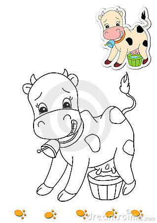 Coloring book of animals 16 - cow