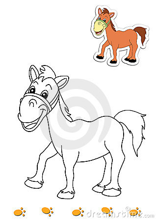 Coloring book of animals 19 - horse