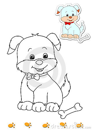 Coloring book of animals 9 - dog
