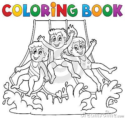Free Coloring Book Aquapark Theme 1 Stock Photo - 32309100