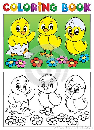 Free Coloring Book Bird Image 6 Royalty Free Stock Photography - 28443917