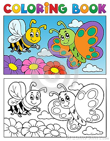 Free Coloring Book Butterfly Theme 2 Stock Images - 28264274