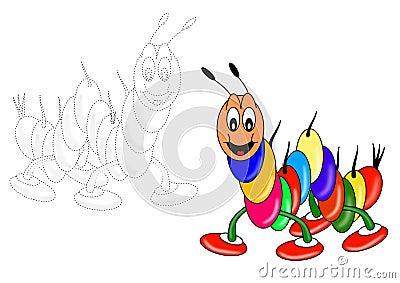 Coloring book - caterpillar