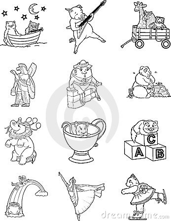 Coloring Book Characters 1