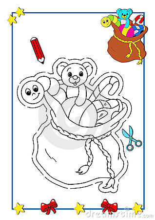 Coloring book of Christmas 10
