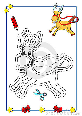 Coloring book of Christmas 6
