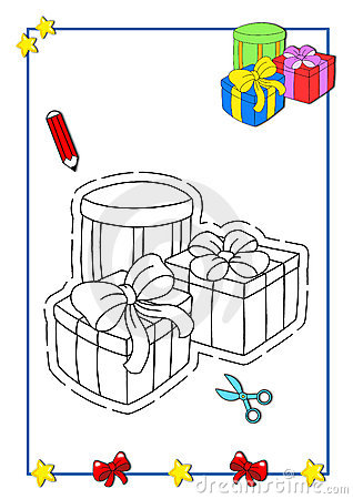 Coloring book of Christmas 8