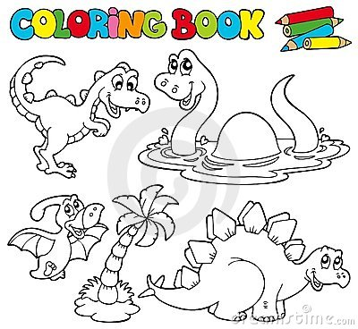 Coloring book with dinosaurs 1