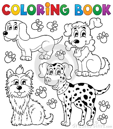 Coloring book dog theme 5