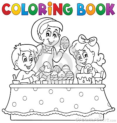 Free Coloring Book Easter Topic Image 1 Royalty Free Stock Images - 51316439