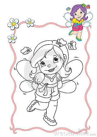 Coloring book - fairy 10