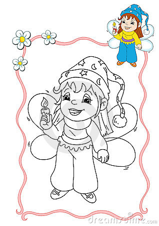 Coloring book - fairy 3