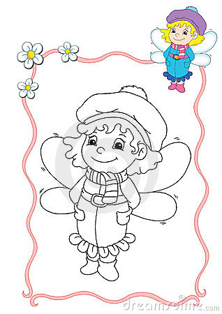 Coloring book - fairy 4