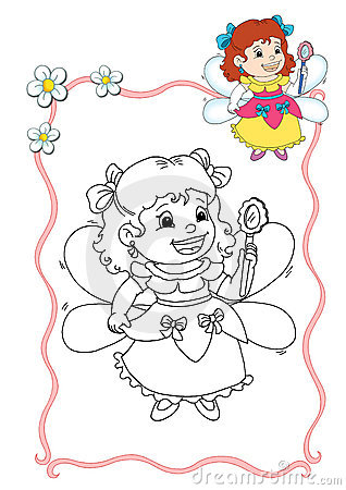 Coloring book - fairy 5