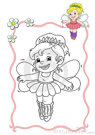 Coloring book - fairy 6