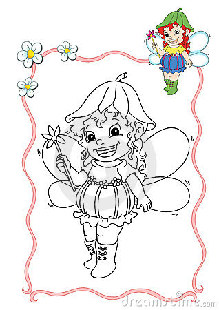 Coloring book - fairy 7