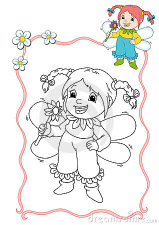 Coloring book - fairy 8