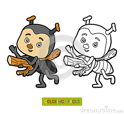 Free Coloring Book For Children, Little Ant Royalty Free Stock Photos - 73169388