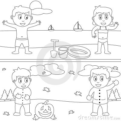 Free Coloring Book For Kids [29] Royalty Free Stock Photography - 9877477