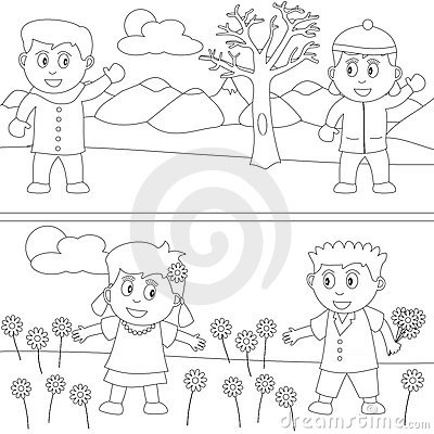 Free Coloring Book For Kids [30] Stock Photo - 9879290